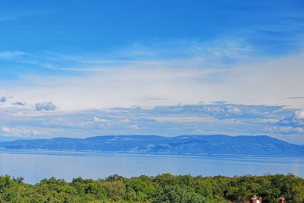DRENJE, ISTRIA, LAND WITH BUILDING PERMIT AND BEAUTIFUL SEA VIEW